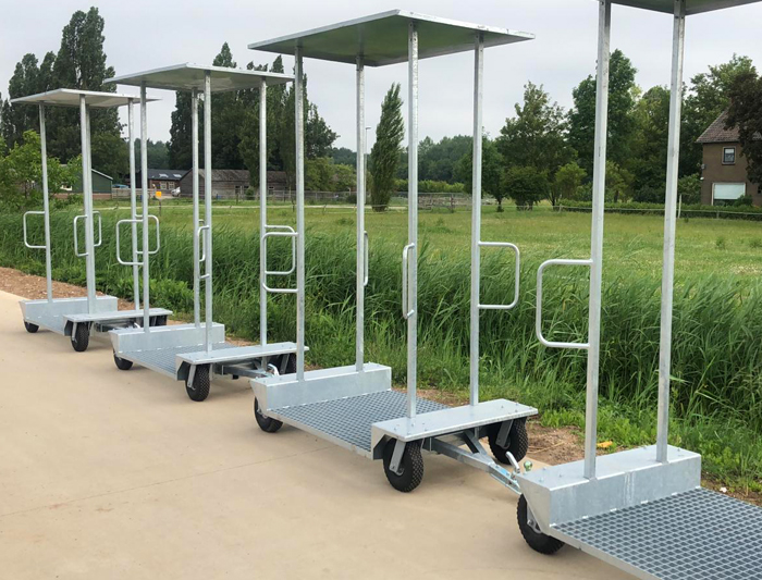 Transport trolleys for flowers